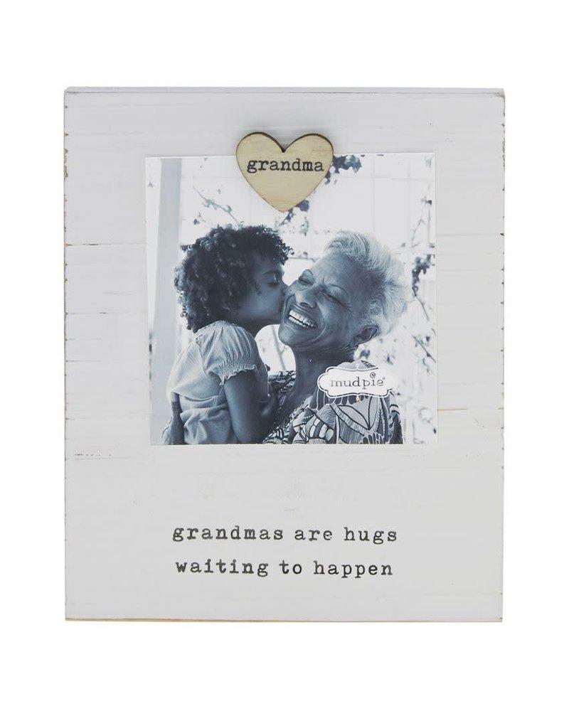 Mudpie Grandma Magnet Heart Wood Frame