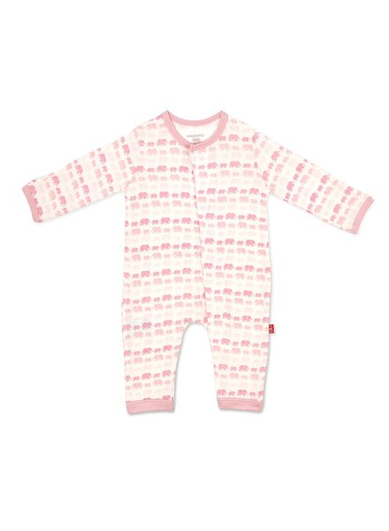 Magnetic Me Magnetic Me Pink Elephants Coverall