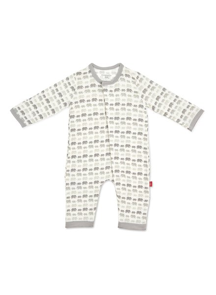 Magnetic Me Magnetic Me Grey Elephants Coverall