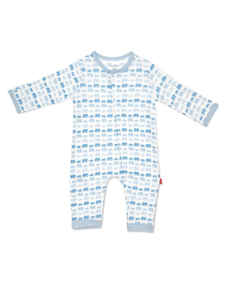 Magnetic Me Magnetic Me Blue Elephants Coverall