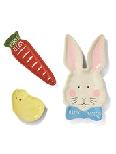Two's Company Set of 3 Easter Treats Tidbit Dishes