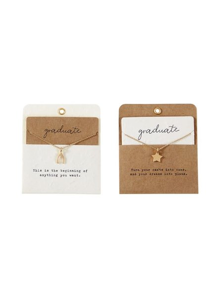 Mudpie Mudpie Graduation Charm Necklaces