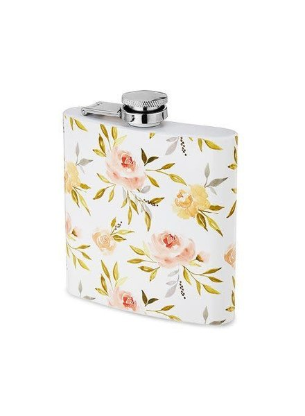 Twine Monogrammed Floral Flask