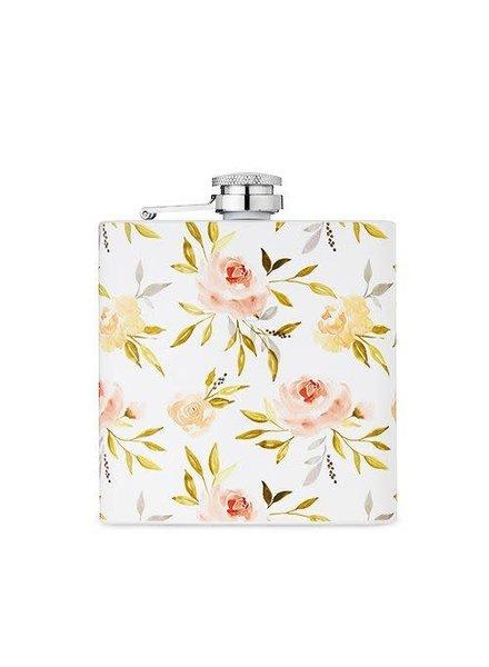 Twine Monogrammed Floral Flask