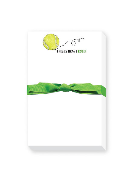 Donovan Designs This Is How I Roll Tennis Ball Notebook