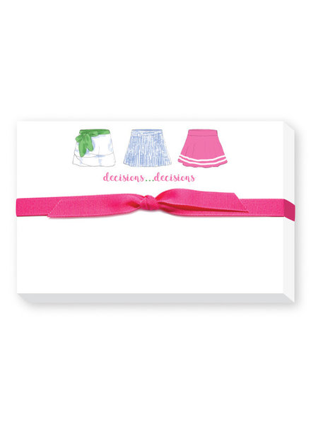 Donovan Designs Decisions Decisions Tennis Skirts Notebook