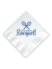 Donovan Designs Let's Cause a Racquet Tennis Napkins