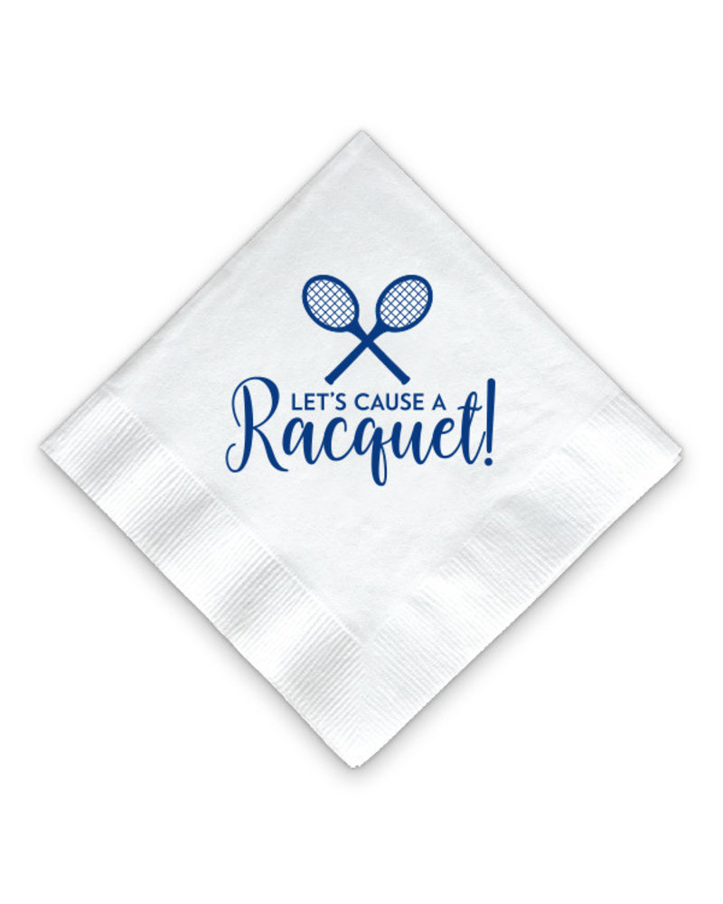 Donovan Designs Let's Cause a Racquet Tennis Napkins