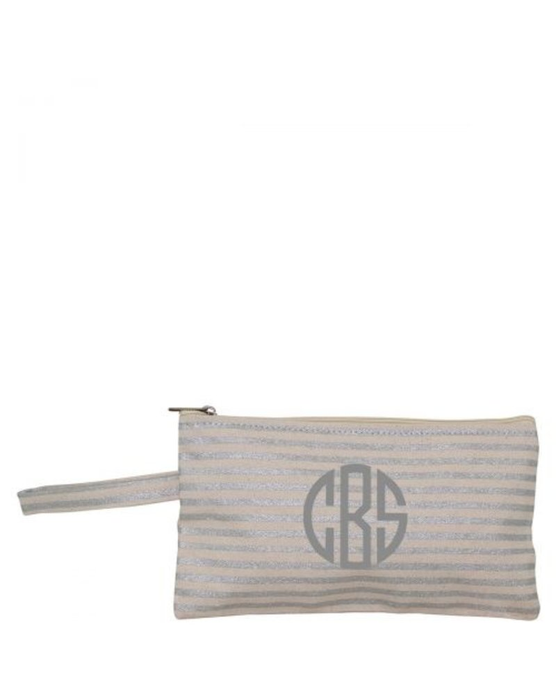 CB Station Monogrammed Metallic Clutch