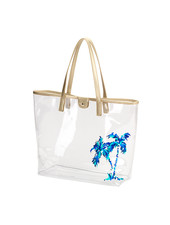 Wholesale Boutique Palm Tree Clear Tote