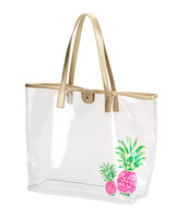 Wholesale Boutique Pineapple Clear Tote