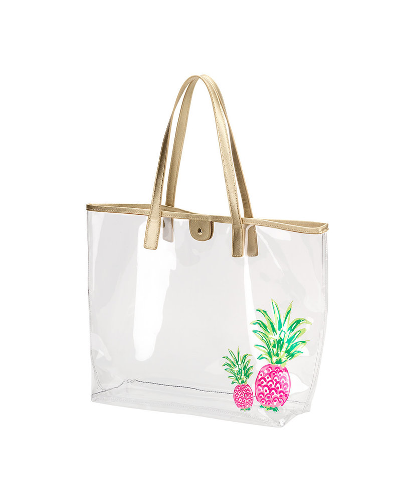 Wholesale Boutique Retreat Pineapple Clear Tote