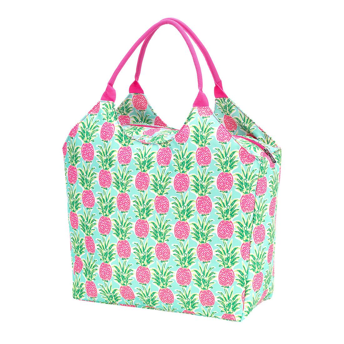 SALE  Monogrammed Flamingo Print Tote Bag
