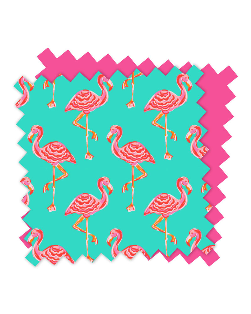 Wholesale Boutique Tickled Pink Flamingo Beach Bag