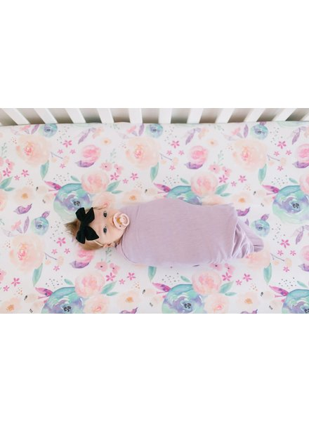 Copper Pearl Bloom Floral Crib Sheet