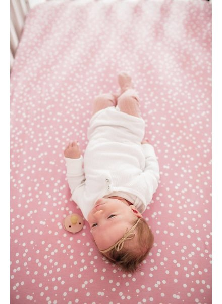 Copper Pearl Lucy  Polka Dot Crib Sheet