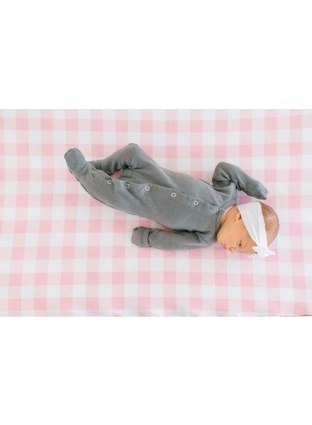 Copper Pearl Pink Gingham Crib Sheet