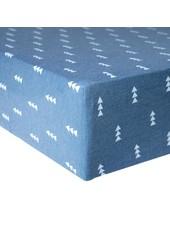 Copper Pearl Blue Arrow Crib Sheet