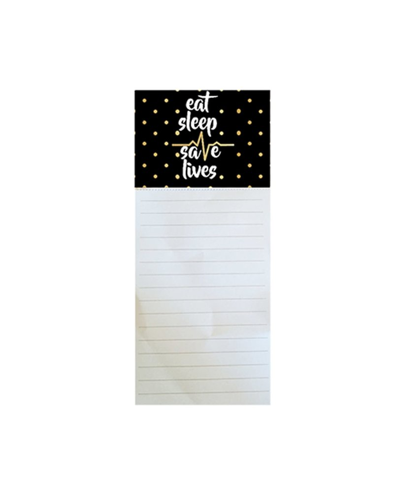 Mary Square Eat Sleep Save Lives Magnetic Notepad