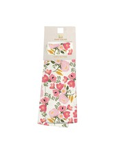 Mary Square Monogrammed Floral Tea Towel