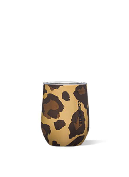 CORKCICLE Luxe Leopard Stemless Wine