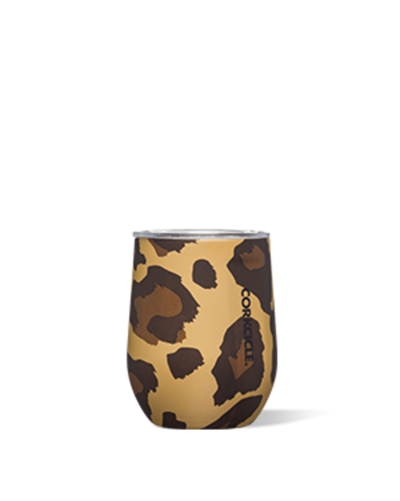 CORKCICLE Corkcicle Stemless Wine - Luxe Leopard