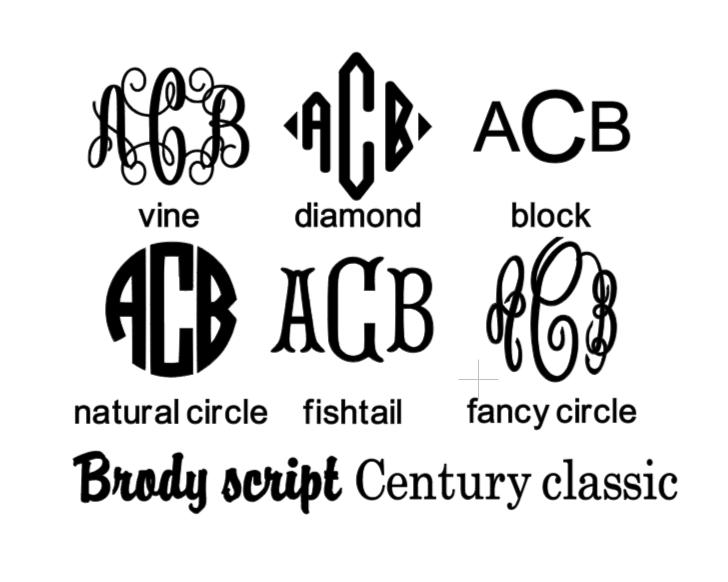 Monogram Font Options