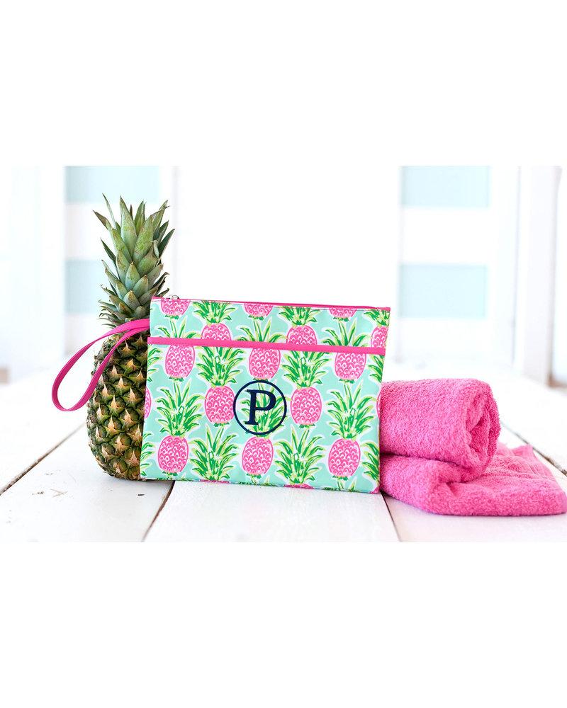 Wholesale Boutique Sweet Paradise Pineapple Zip Pouch