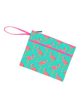 Wholesale Boutique Monogrammed Flamingo Zip Pouch