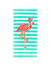 Wholesale Boutique Flamingo Striped Beach Towel
