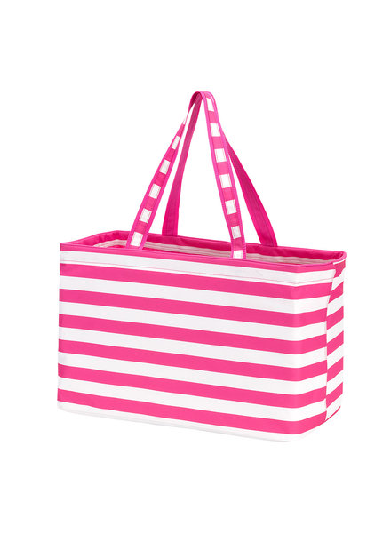 Wholesale Boutique Pink Striped Ultimate Tote