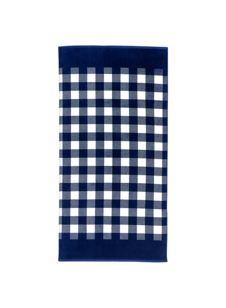 Wholesale Boutique Monogrammed Navy Gingham Beach Towel
