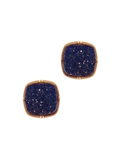 Wholesale Boutique Navy Blue Druzy Earrings