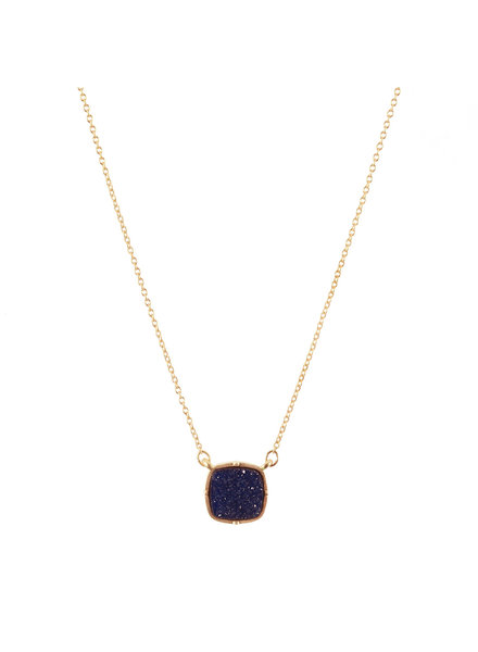 Wholesale Boutique Navy Blue Druzy Necklace