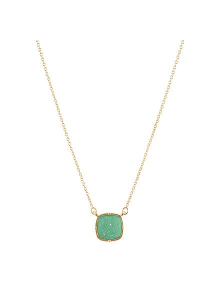 Wholesale Boutique Mint Druzy Necklace