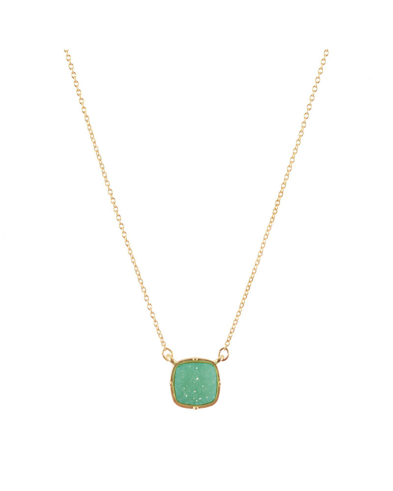 Wholesale Boutique Mint Druzy Necklace