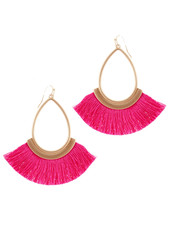 Wholesale Boutique Hot PInk Fringe Earrings