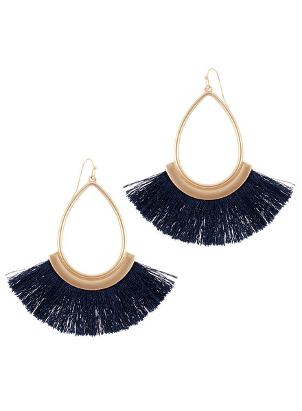 Wholesale Boutique Navy Fringe Earrings
