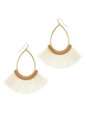 Wholesale Boutique Cream Fringe Earrings