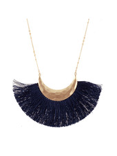 Wholesale Boutique Navy Fringe Necklace