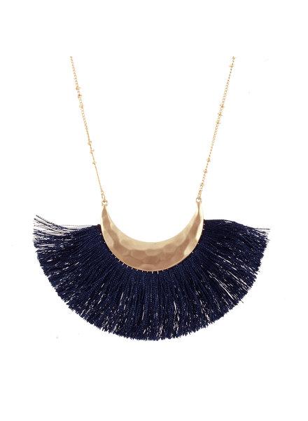 Wholesale Boutique Navy Fringe Necklace