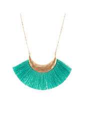 Wholesale Boutique Mint Fringe Necklace