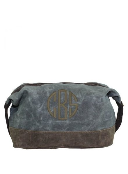 CB Station Slate Waxed Canvas Dopp Kit
