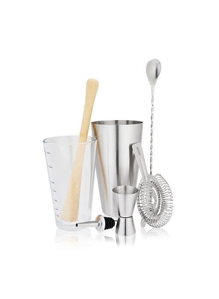 True 7 Piece Stainless Barware Set