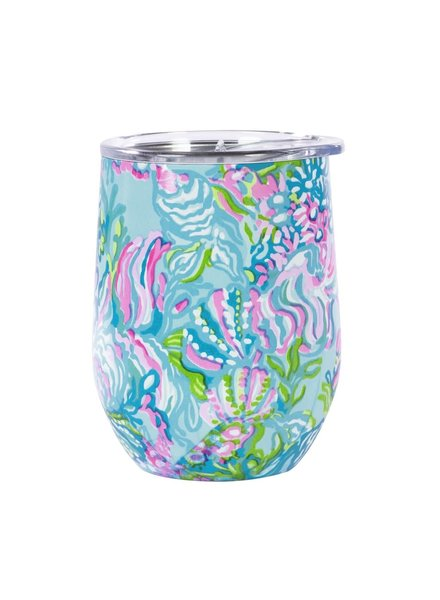 Lilly Pulitzer Lilly Stainless Wine Glass - Aqua La Vista
