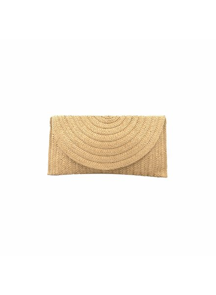 Oversized Straw Clutch