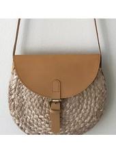 1968 & Co. Leather & Jute Crossbody