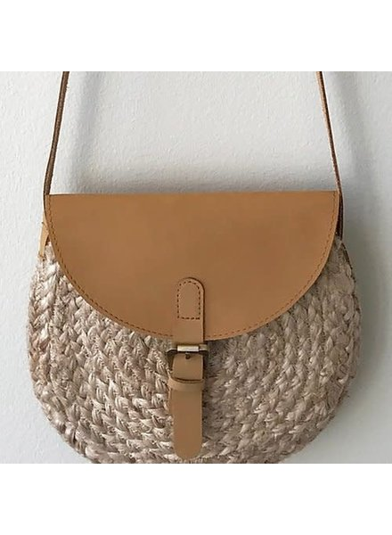 1968 & Co. Leather & Jute Crossbody