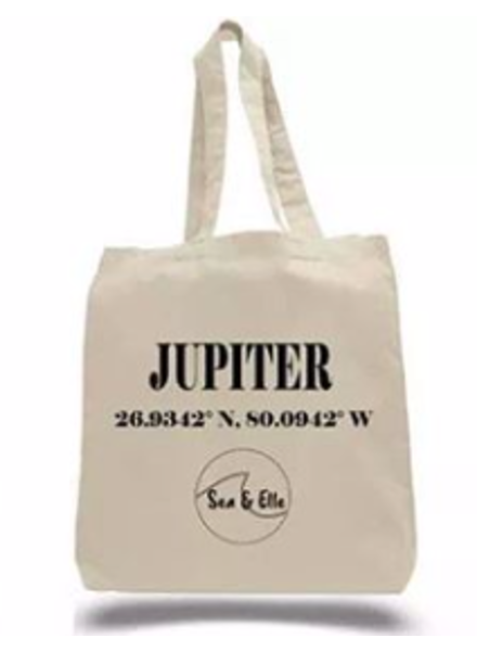 Sea & Elle Jupiter Coordinates Tote Bag