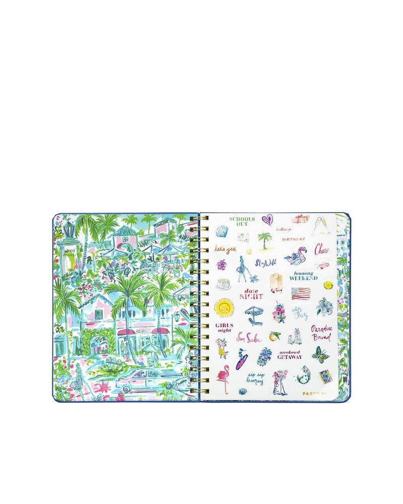Lilly Pulitzer Lilly Large Agenda - Reel Nauti
